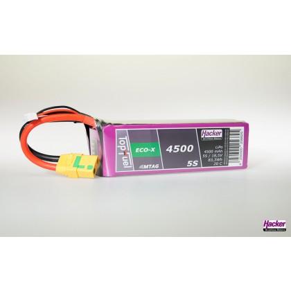 TopFuel LiPo 20C ECO-X 4500mAh 5S MTAG from Hacker 94500531