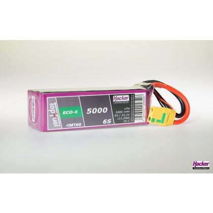 Hacker TopFuel ECO-X 6S 5000mAh 20C LiPo Battery With MTAG 95000631