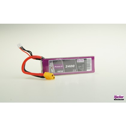 Hacker TopFuel Power-X 2S 2400mAh 35C LiPo Battery With MTAG 92400261