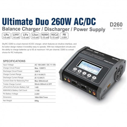 D260 Ultimate Duo 260W AC/DC from SKY RC SK-100157