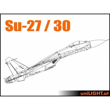 UniLight CARF SUKHOI Su-27, Su-30, Afterburner Scale