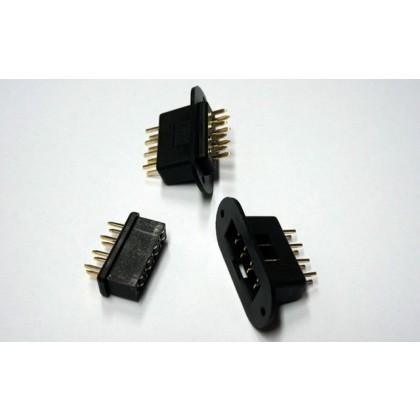 Emcotec MPX Wing connectors 8pin, plug & socket, 2 pairs A85310