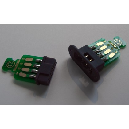 Emcotec MPX Wing connectors 8pin with PCBs: 2 pairs sockets and plugs 4 soldering PCBs A85310 (1109)