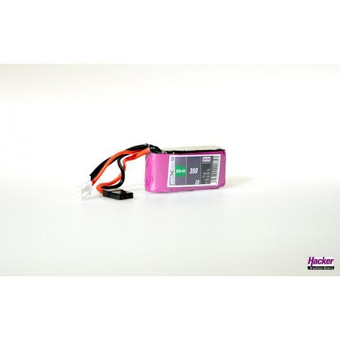 Hacker TopFuel ECO-RX 2S 350mAh 25C LiPo Battery