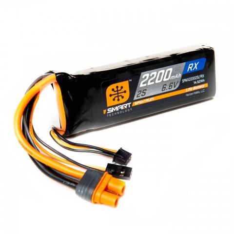 Spektrum 2200mAh 2S 6.6V Smart LiFe Receiver Battery IC3 SPMX22002SLFRX