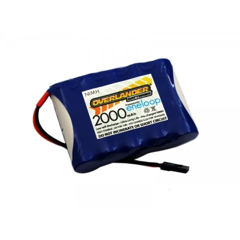 Overlander Nimh Battery Pack Eneloop AA 2000mah 6v Receiver Flat 2870