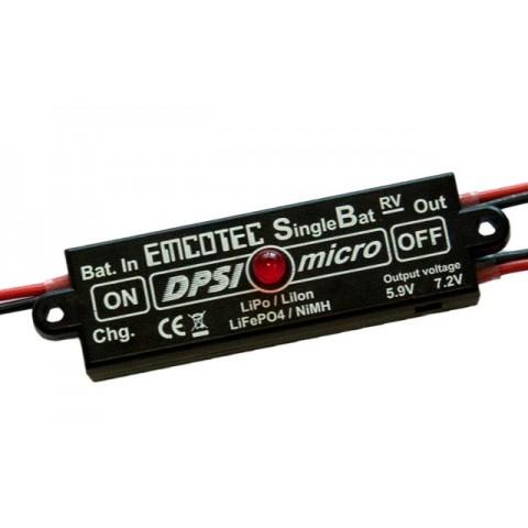 Emcotec Magnetic Switch DPSI Micro SingleBat 5.9V/7.2V F3A Edition A11064