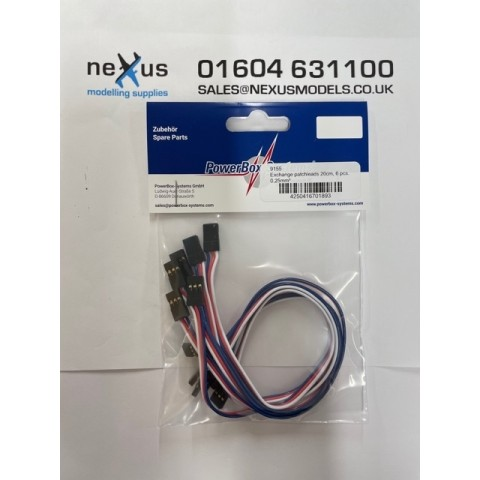 PowerBox Exchange Patch Lead 20cm Pack of 6 Leads 9155