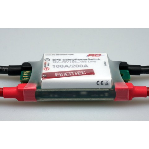 SPS Safety Power Switch 6v to 70V 100/200A Battery / ESC Isolator A72011 from Emcotec IRC