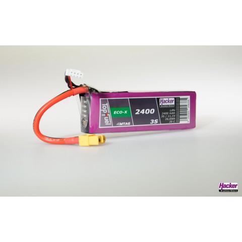 Hacker TopFuel Eco-X 3S 2400mAh 20C MTAG LiPo Battery 92400331