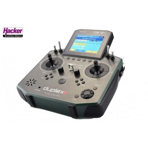 Jeti Duplex 2.4 EX DS24 Carbon Line Dark Green Multi Mode Transmitter with REX10 Receiver